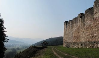 Detail der Mauer der Hochburg bei Emmendingen;  Foto: Staatliche Schlösser und Gärten Baden-Württemberg, Corinna Greb