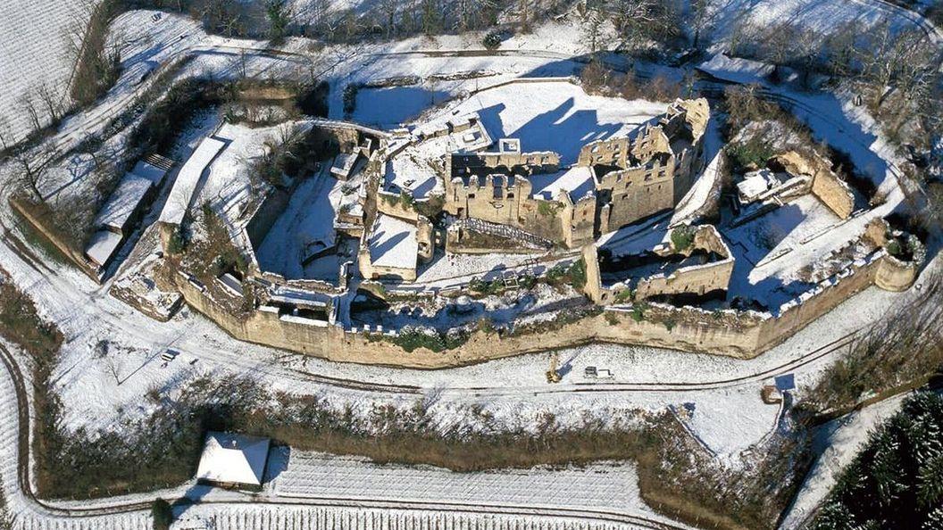 Château médiéval Hochburg d'Emmendingen, Vue aérienne