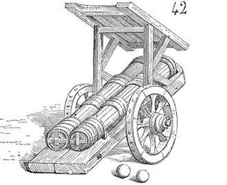 Frühe Kanonen; Foto: Wikipedia, gemeinfrei