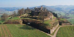 Luftansicht der Hochburg bei Emmendingen