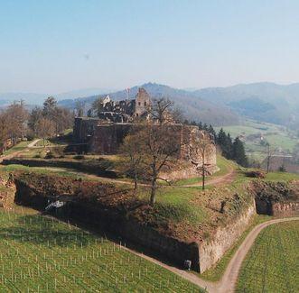 Château médiéval Hochburg d'Emmendingen,  vue extérieure