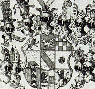 Wappen des Markgrafen Georg Friedrich von Baden-Durlach